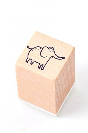 Lovely Wooden Rubber Stamp - Little Forest - elephant
