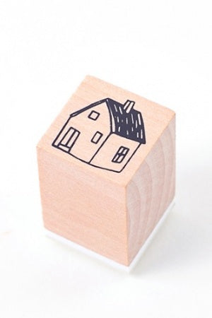 Lovely Wooden Rubber Stamp - Little Forest - house