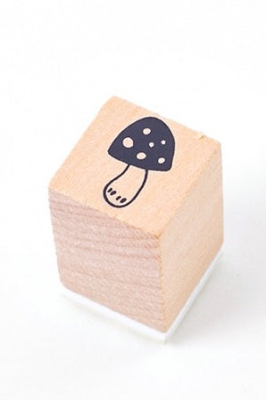 Lovely Wooden Rubber Stamp - Little Forest - mushroom