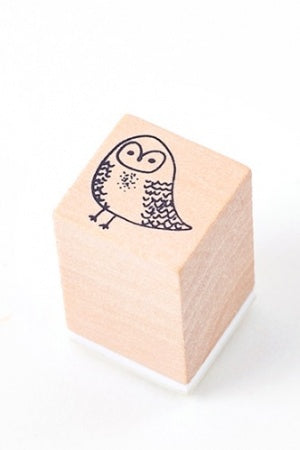Lovely Wooden Rubber Stamp - Little Forest - owl