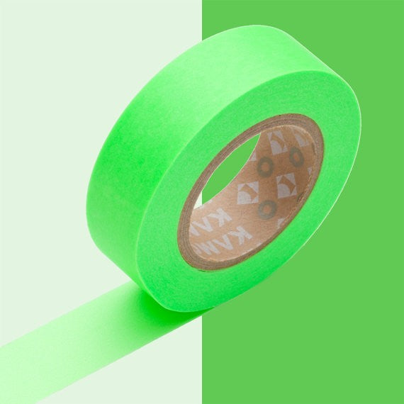 Masking tape 15mm - Mt Colors - Shocking green