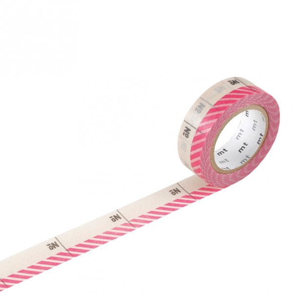 Masking tape 15mm - Mt Ex - Number Pink