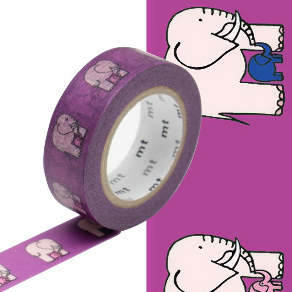Masking tape 15mm - Mt Ex - Lisa Larson - Elephant