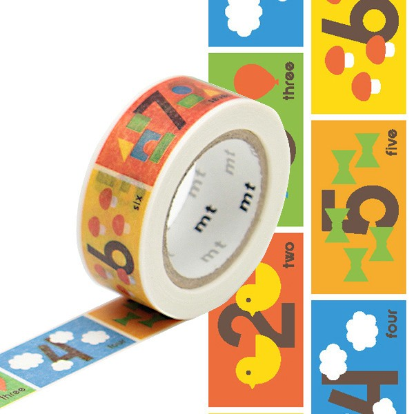 Masking tape 15mm - Mt Kids - Number