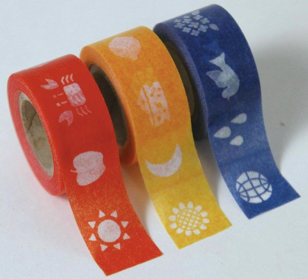 Masking tape 15mm - Mt Kids rood - set van 3