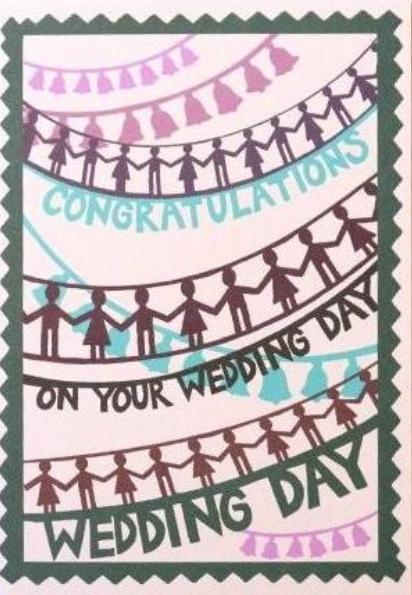 Pintuck Card - Congratulations