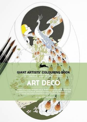Giant Artists' Colouring Book - Art Deco