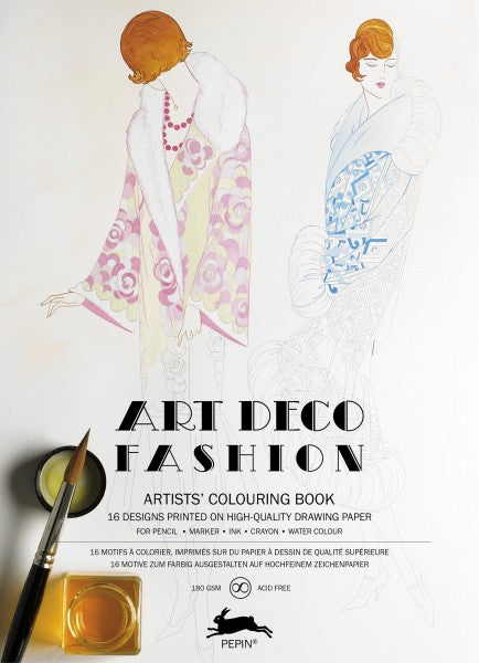 Artists' Colouring Books - Art Deco Fashion