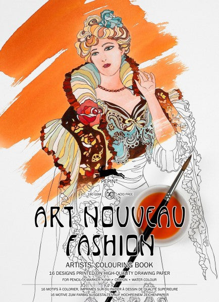 Artists' Colouring Books - Art Nouveau Fashion