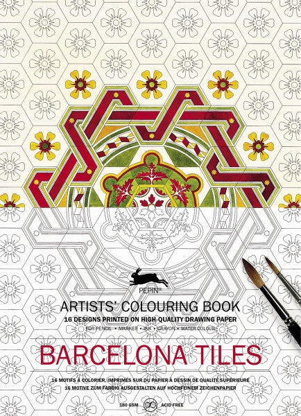 Artists' Colouring Books - Barcelona Tiles
