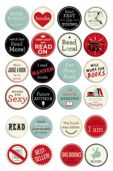 Button - I read, therefore I am