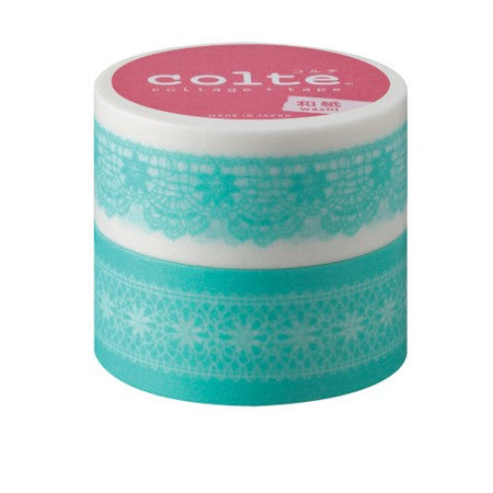Masking tape 22mm - Chiffon Mint - set van 2