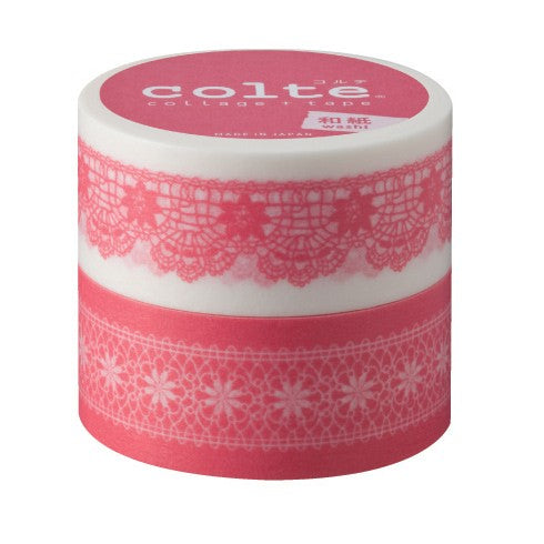 Masking tape 22mm - Chiffon pink - set van 2