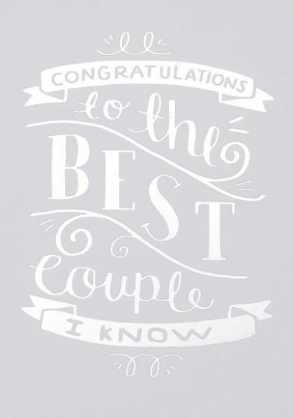 Wenskaart - Steph Baxter - Congratulations to the best couple I know