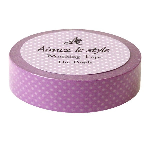 Washi Tape - Dots Purple