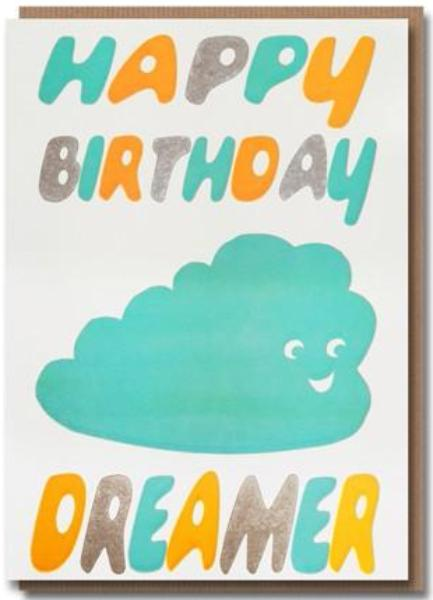 Sukie Letterpress - Happy Birthday Dreamer