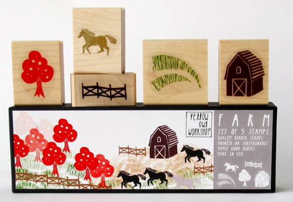 Stempel - Farm - set van 5