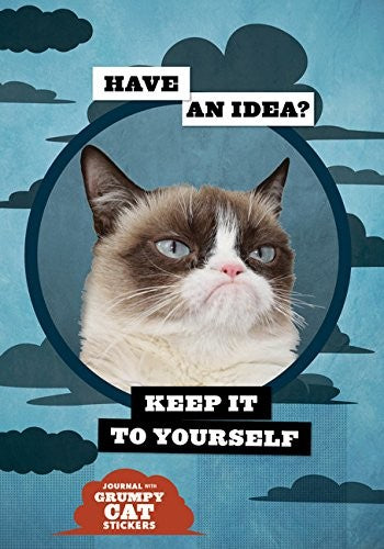 Notitieboek - Grumpy Cat flexi journal met stickers