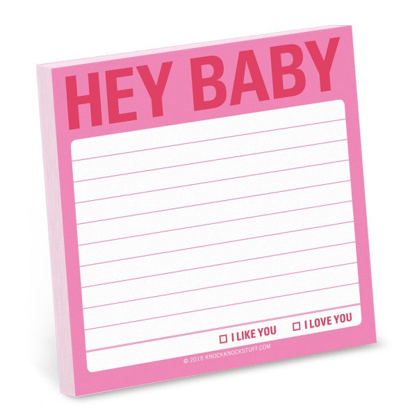 Sticky notes - Hey baby