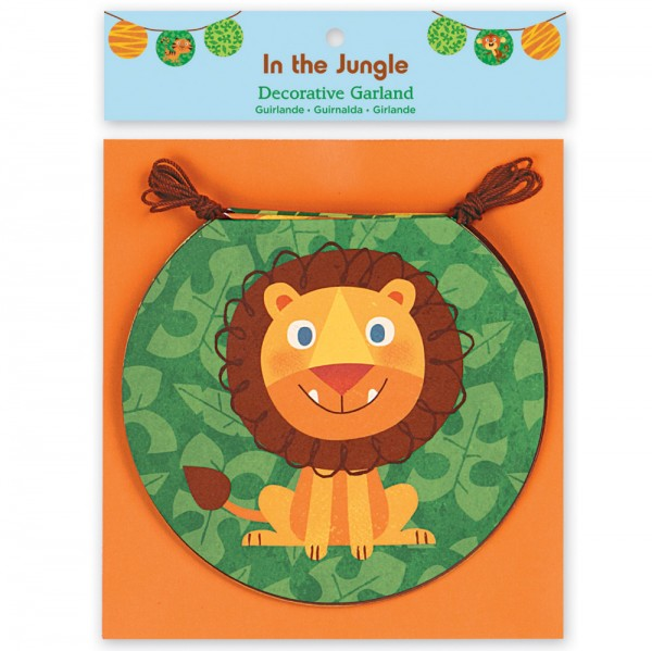 Papieren vlaggen - In the Jungle decoratieve slinger