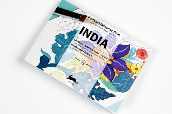 Postkaart - om in te kleuren - India - set van 20