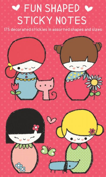 Sticky notes - Japanese Dolls Shaped Sticky Notes - set van 7