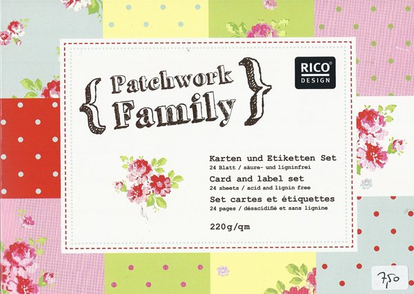 Kaartenset - Patchwork Family