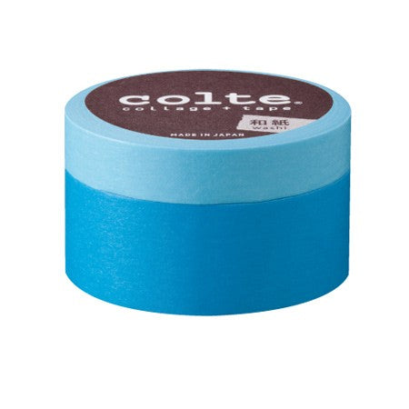 Masking tape - Colte Colors - Light Baby Blue & Baby Blue -set van 2 (CP004)