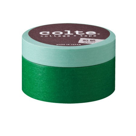 Masking tape - Colte Colors - Light Green & Green - set van 2 (CP003)