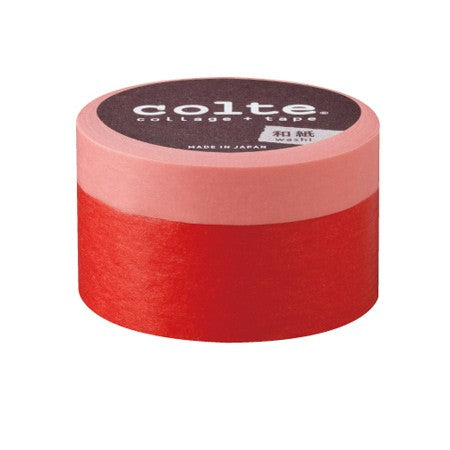 Masking tape - Colte Colors - Light Red & Red - set van 2 (CP008)
