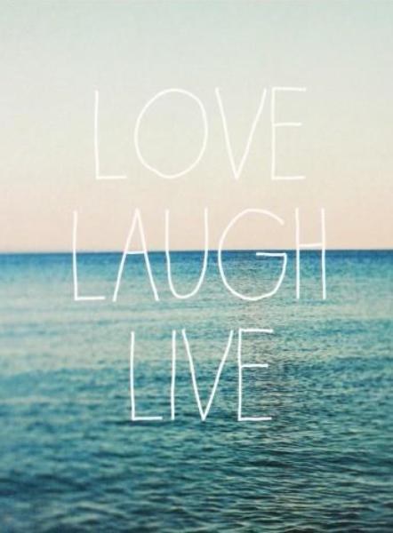 Wenskaart - Alicia bock - Love laugh live