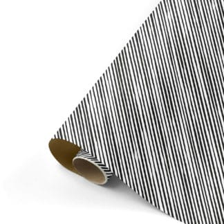 Inpakpapier - Manual stripes zwart-goud