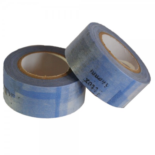 Masking tape 22mm - Collage blauw