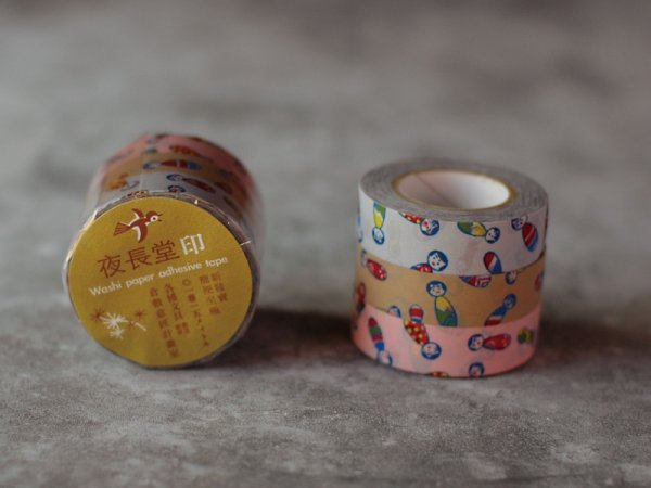 Masking tape 15mm - Kokeshi - set van 3