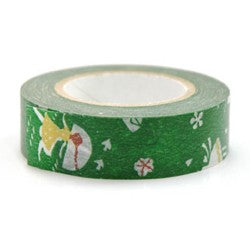 Masking tape 15mm - Love letter groen