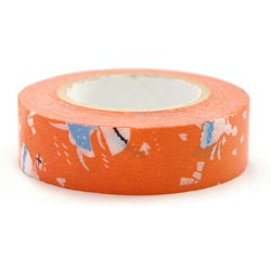 Masking tape 15mm - Love letter oranje