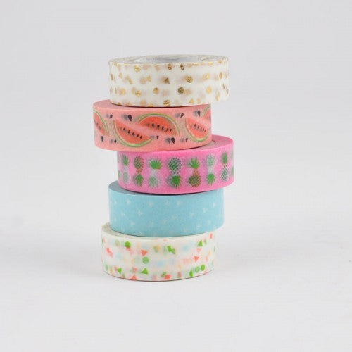 Masking tape 15 mm - Ananas - set