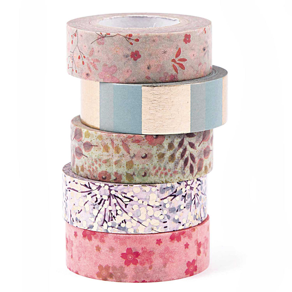 Masking tape 15 mm - bouquet sauvage - set van 5