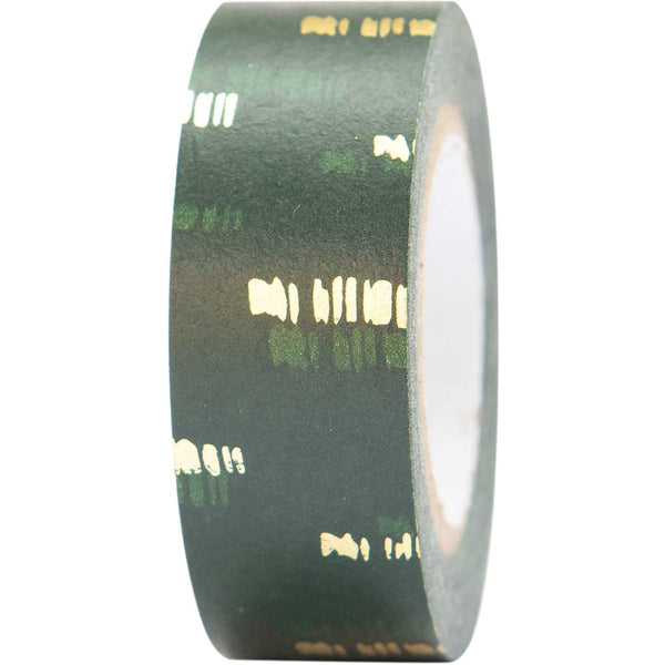 Masking tape 15mm - nature - groen goud