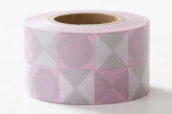 Masking tape 20mm - Masté deco - Colored Tile Pink