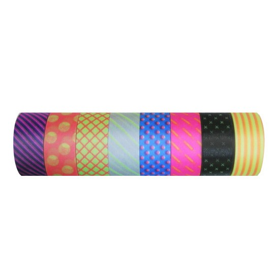 Masking tape 15mm - Masté deco - Visible Neon Dots and Stripes - set van 8