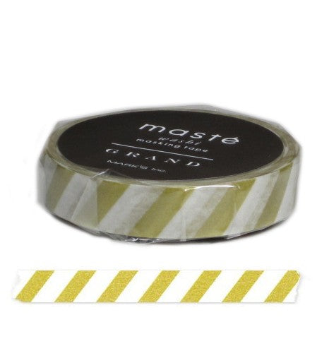 Masking tape 10mm - Masté Grand - Stripes gold