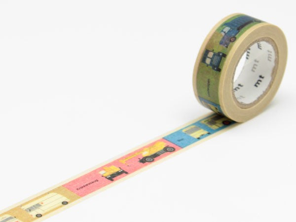 Masking tape 15mm - Mt Kids - Vehicles