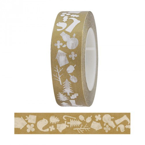 Masking tape 15mm - My Memo - Kersttape goud