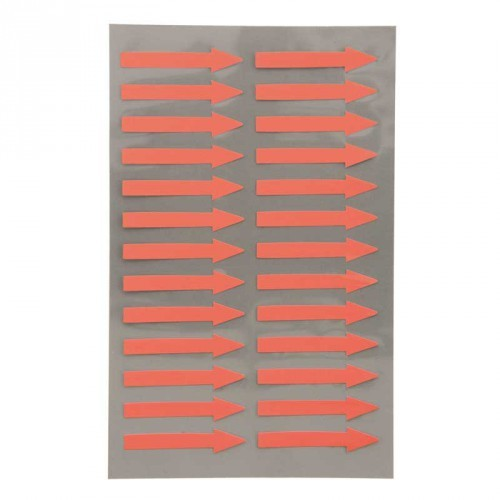 Office stickers - Pijlen neon rood