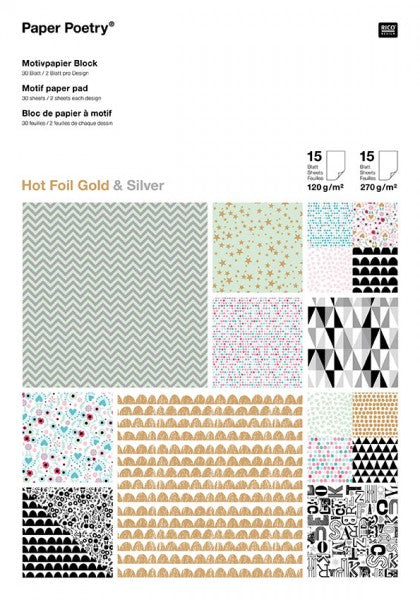 Papierset - Graphic Hotfoil