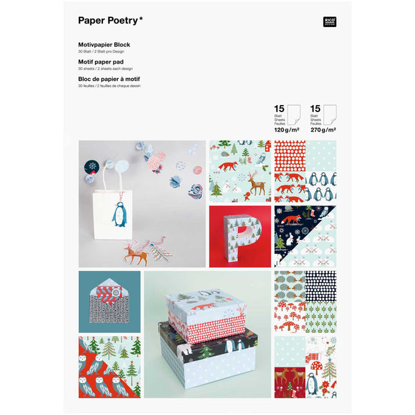 Papierset - winterwoud