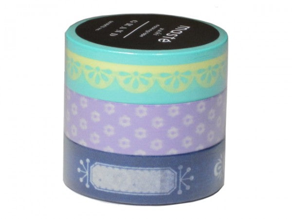Masking tape 15mm - Photo deco Mint - set van 3
