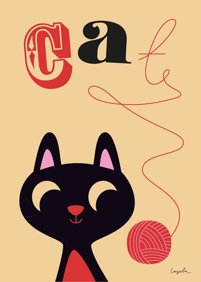 Poster - Ingela Peterson Arrhenius - The cat