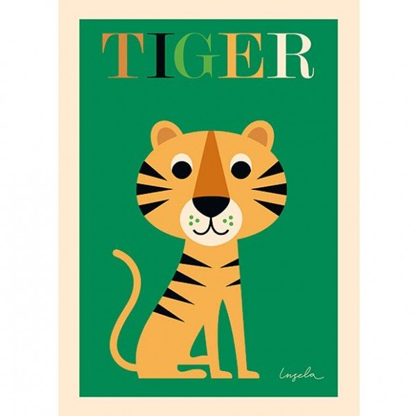 Poster - Ingela Peterson Arrhenius - Tiger